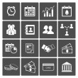 Time and Money Icons Set - Stock Vector