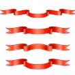 Classic Red Ribbon Set - Stock Vector