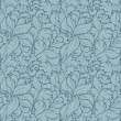 Seamless floral pattern on blue background - Stock Vector