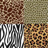 Animal Skin Patterns — Stock Vector