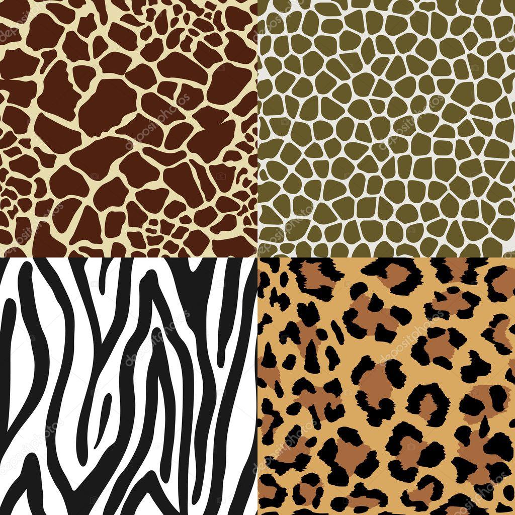 Animal skin patterns vector