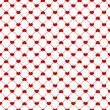 Stock Vector: Seamless red hearts pattern