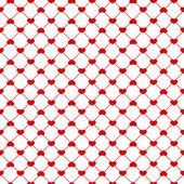 Seamless red hearts pattern — ストックベクタ
