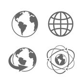 Globe earth icons — Stok Vektör