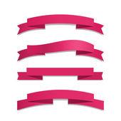 Pink Ribbon Set — Stock Vector