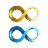 Infinity Icons — Stock Vector