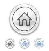Maison icône sur le bouton — Vecteur