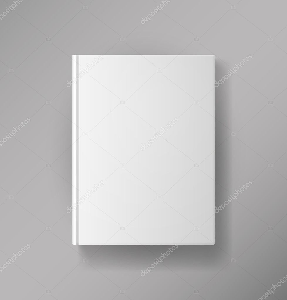 Book Cover Illustration Price : Blank book cover — stock vector mssa