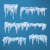 Ice sheets with icicles — Stock Vector