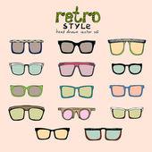 Gafas retro hipster — Vector de stock