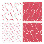 Candy cane background patterns — Stock Vector