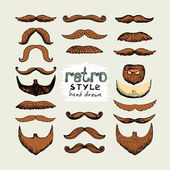 Mustaches and beards — Stock Vector
