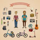 Hipster infographic concept — Stock Vector