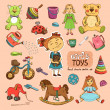 Stock Vector: Toys for girl