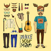 Make hipster set — Stock Vector