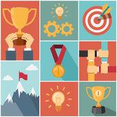 Achieving goal success concept — Stock Vector