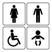 Toaletten ikoner — Stockvektor