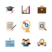 Business career colored icons — Stock Vector