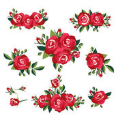Roses on white background — Stock Vector