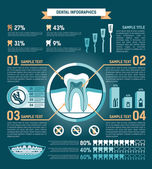 Tooth Infographic — Stock Vector