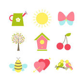 Set of spring icons — Stock Vector