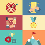 Achieving goal, success concept vector — Stockvector