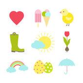 Spring icons — Vecteur
