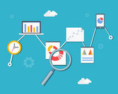 Web statistics and analytics — Stock Vector