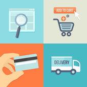 Internet shopping — Stock Vector
