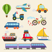 Vector transport set — Stock Vector
