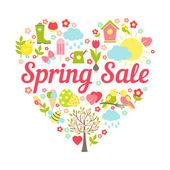 Spring sale heart — Vecteur