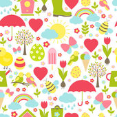 Pretty delicate seamless spring pattern — Stock Vector
