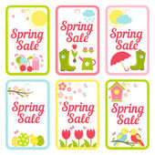 Collection of designs for Spring Sale signs — Stock Vector