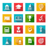 Internet education icons — Vector de stock