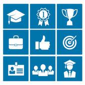 Ikony biznes kariera — Wektor stockowy