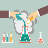 Chemical experiment illustration — Stock Vector