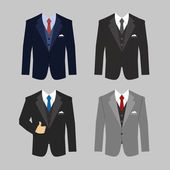 Business clothing suit — Stock Vector
