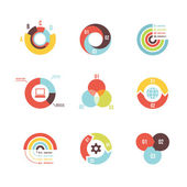Circle infographic design templates — Stock Vector