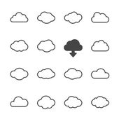 Cloud shapes set — Stock Vector