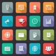 Collection of internet education icons — Stock Vector