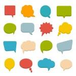 Colored communication bubbles — Stock Vector
