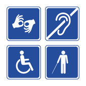 Disabled signs — Stock Vector