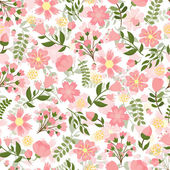 Seamless spring floral background — Stock Vector