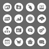 Silhouette web icons — Stock Vector