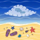 Summer tropical beach banner — Stock Vector