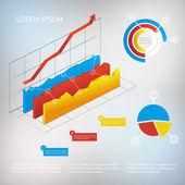 Vector graph infographic element — Stock Vector