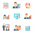 Set of colorful vector business icons — Stock Vector #45034113