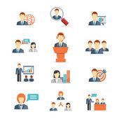 Business people vector icons — Stock Vector