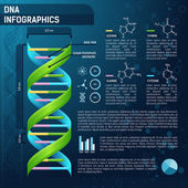 DNA for science infographics — 图库矢量图片