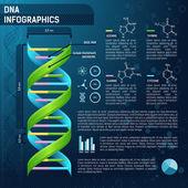 DNA for science infographics — Vecteur